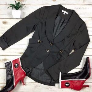 CAbi Dark Grey Work-It Blazer Jacket Style #769